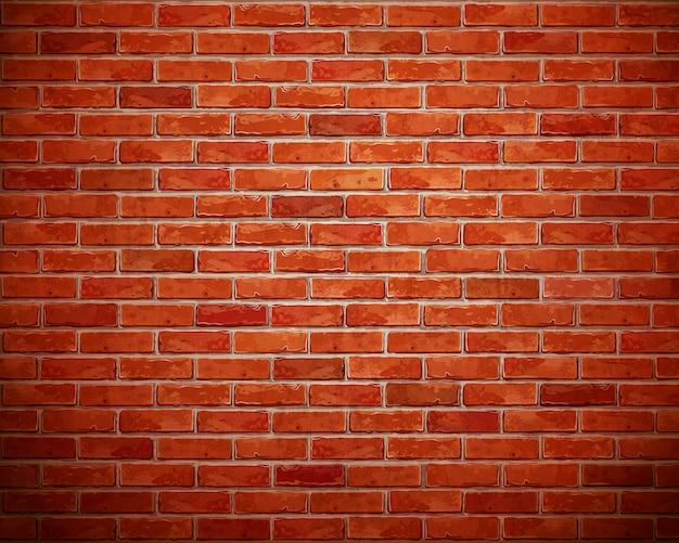 Fundo da parede de tijolo vermelho.