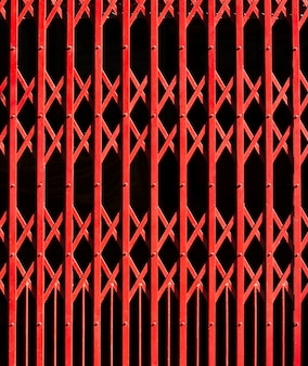 Fundo da porta de aço vermelho