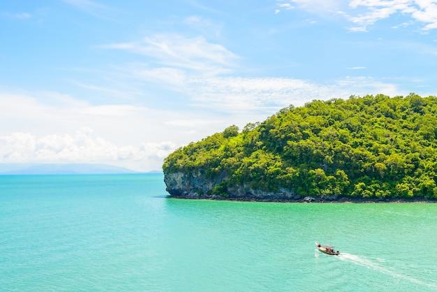 Fundo da praia água andaman tropical