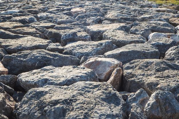 Fundo da rocha da praia