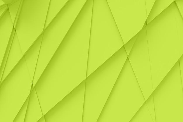 Fundo da superfície cortado em muitos polígonos diferentes, lançando uma ilustração 3d de sombra