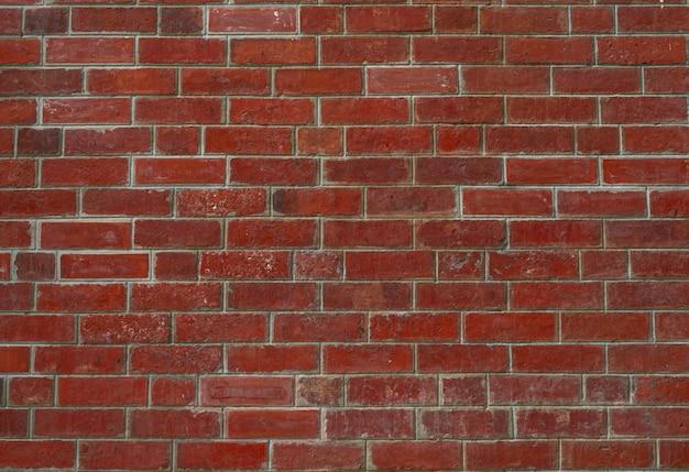 Fundo da textura da parede de tijolo vermelho. plano de fundo para o texto. conceito de arquitetura exterior.