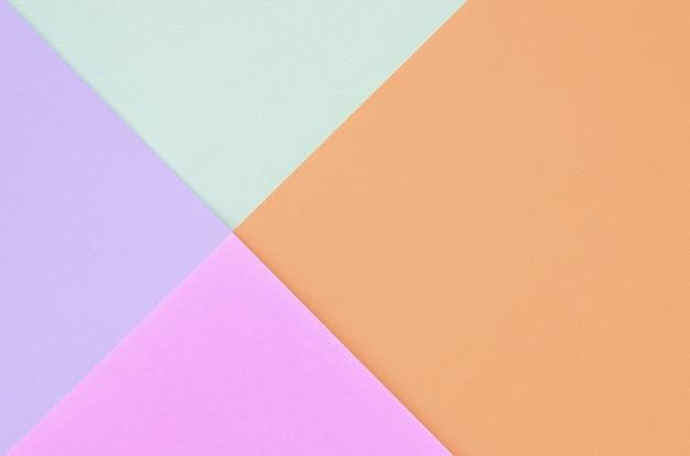 Fundo da textura de cores pastel da forma. rosa, violeta, laranja e azul