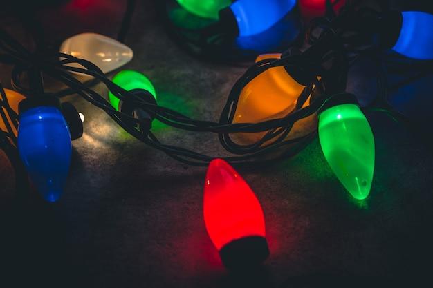 Fundo das luzes de natal