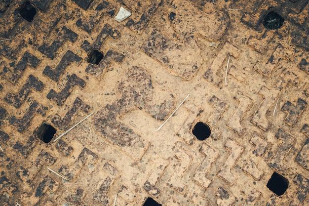 Fundo de aço da textura da oxidação do tampão da tubulação do close up.