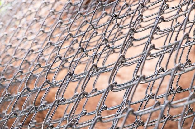 Fundo de aço de malha de arame