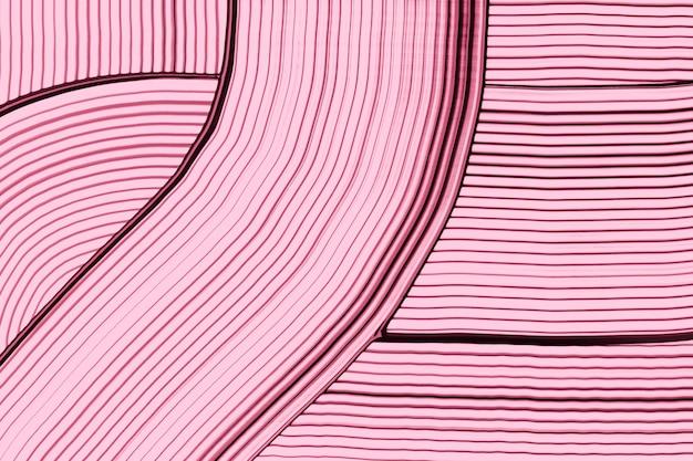 Fundo de acrílico rosa texturizado em padrão ondulado arte criativa abstrata