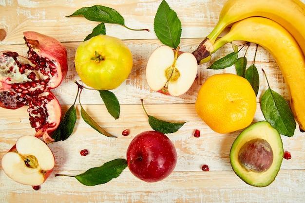 Fundo de alimentos orgânicos.