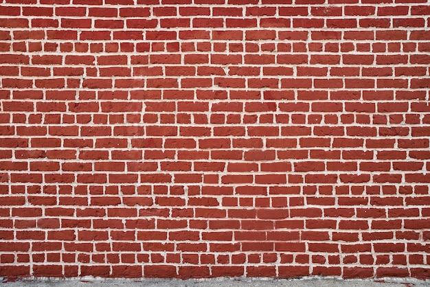 Fundo de alvenaria de parede de tijolo vermelho