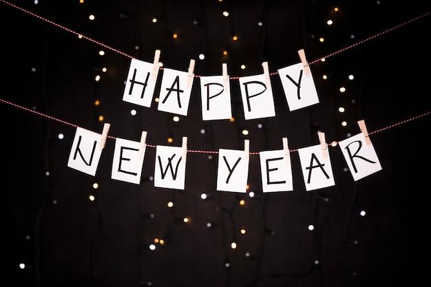 Fundo de ano novo com varal