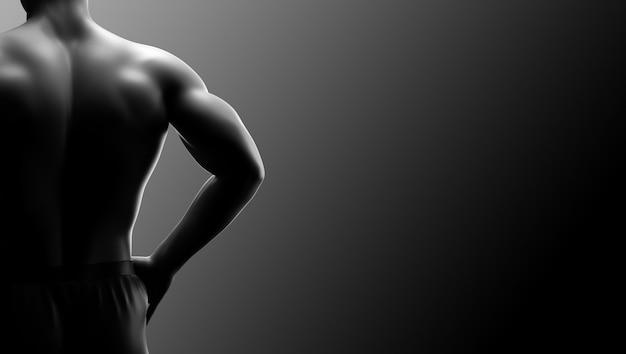 Fundo de aptidão do homem músculo