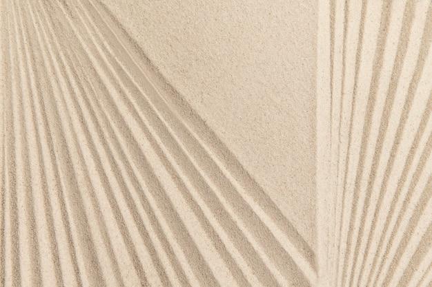 Fundo de areia zen listrado no conceito de atenção plena