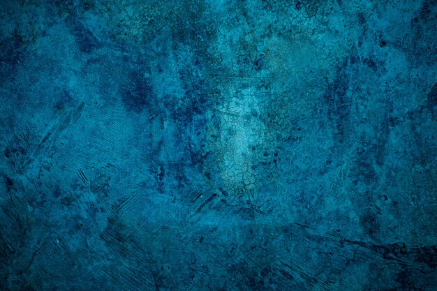 Fundo de argamassa azul, textura de cimento