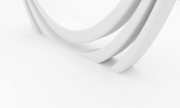 Fundo de arquitetura abstrata. ilustração 3d da construção circular branca.