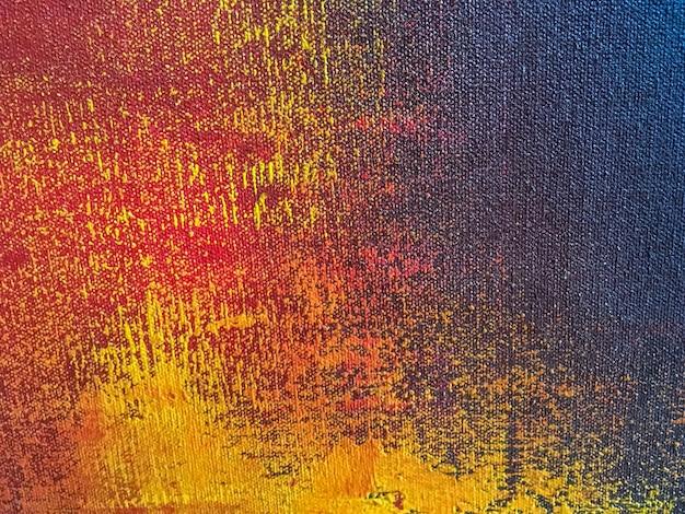 Fundo de arte abstrata com cores laranja e azul marinho