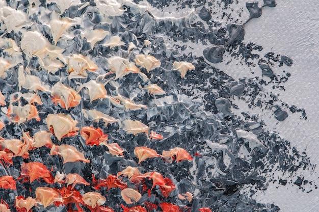 Fundo de arte acrílica abstrata de pintura a óleo