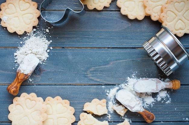 Fundo de assar biscoitos sem glúten