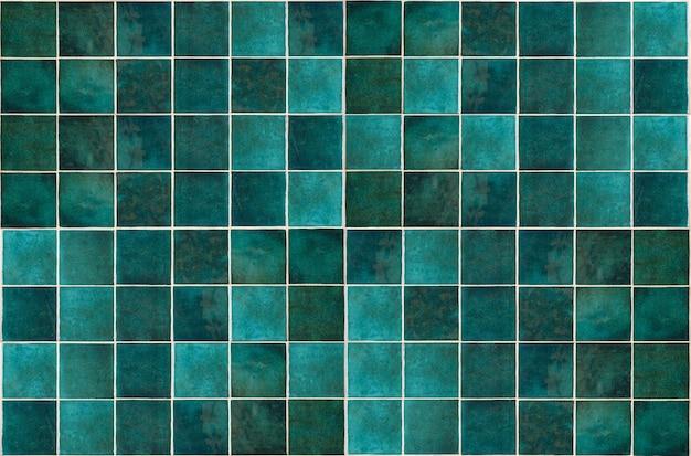 Fundo de azulejo de cerâmica verde azulejos antigos de cerâmica vintage em verde para decorar a cozinha ou o banheiro ...