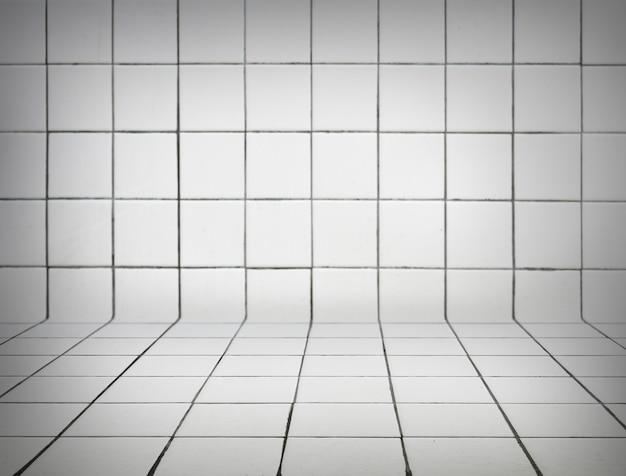 Fundo de azulejos brancos