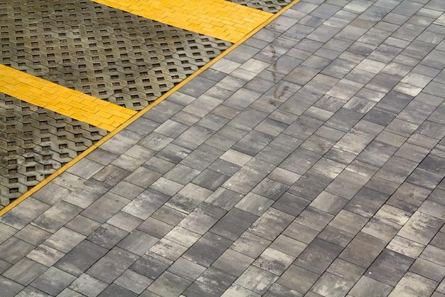 Fundo de azulejos cinza. textura de parede de azulejo clássico para interior
