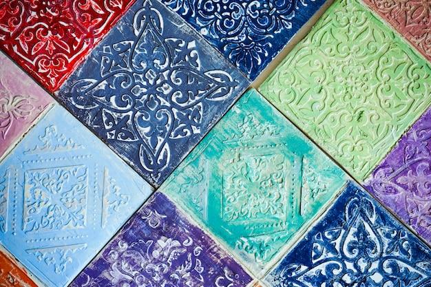 Fundo de azulejos de estilo mourisco