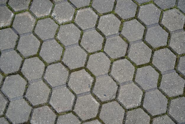 Fundo de azulejos pentagonais