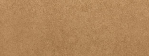 Fundo de bandeira de textura de papel kraft marrom claro
