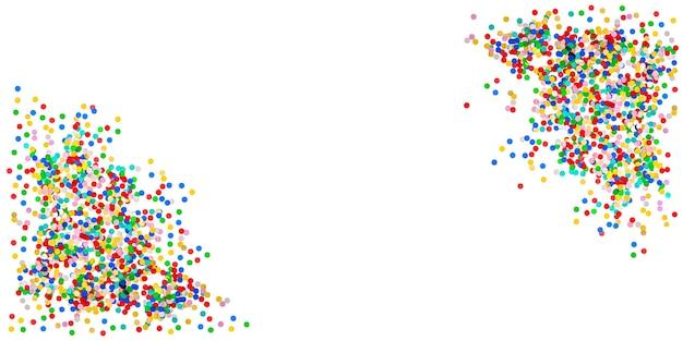 Fundo de banner de confete. decoração de festa de aniversário, carnaval, feriados
