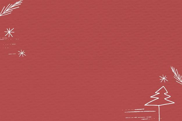 Fundo de banner de mídia social de natal vermelho com espaço de design Foto gratuita