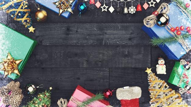 Fundo de banner de natal com espaço de cópia.