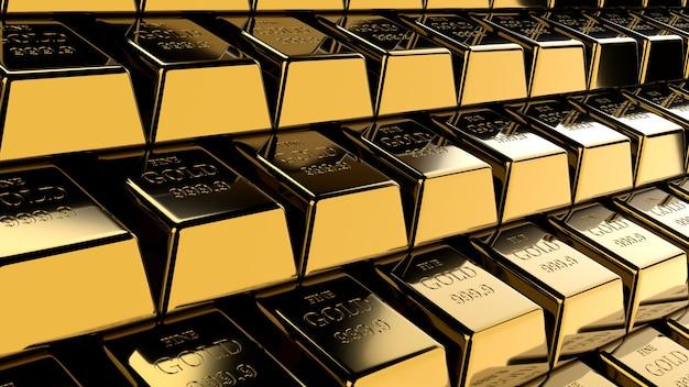 Fundo de barras de ouro