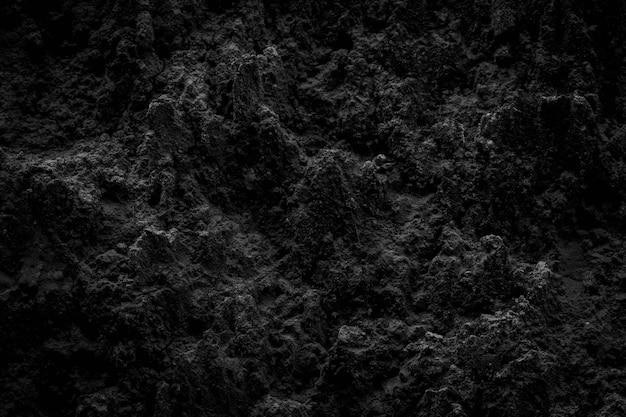 Fundo de bela natureza de solo preto para design
