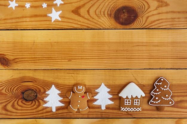 Fundo de biscoitos de gengibre de natal