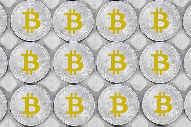 Fundo de bitcoin. bitcoins e novo conceito de dinheiro virtual. bitcoin é uma nova moeda.