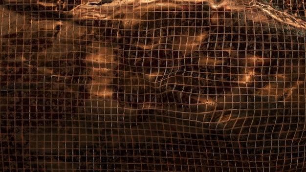 Fundo de bloco de telhas metálicas