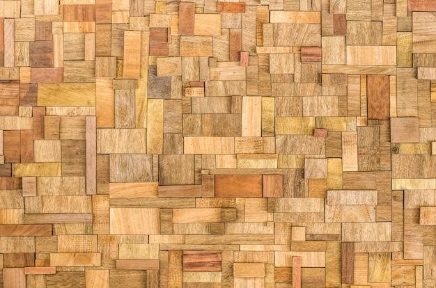 Fundo de blocos de madeira texturizado