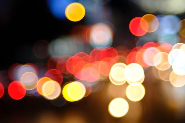 Fundo de bokeh de iluminação colorida