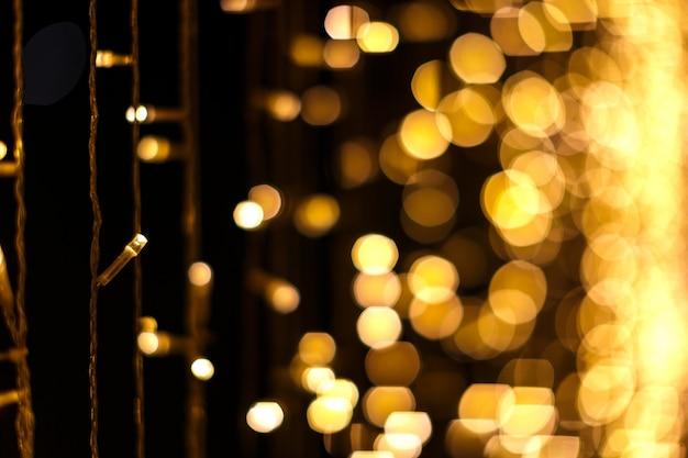 Fundo de bokeh de luzes de natal Foto Premium
