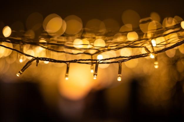 Fundo de bokeh de luzes de natal