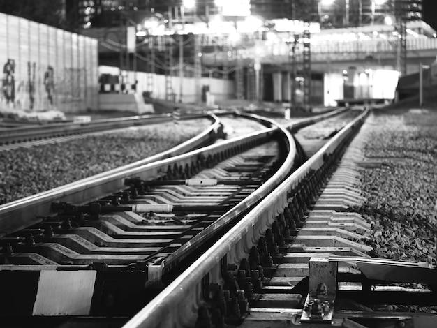 Fundo de bokeh para transporte na virilha da ferrovia