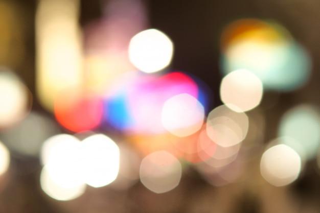 Fundo de bokeh turva luzes de tráfego na cidade de china