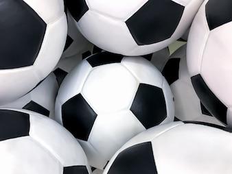 Fundo de bola de futebol, isolado no fundo branco