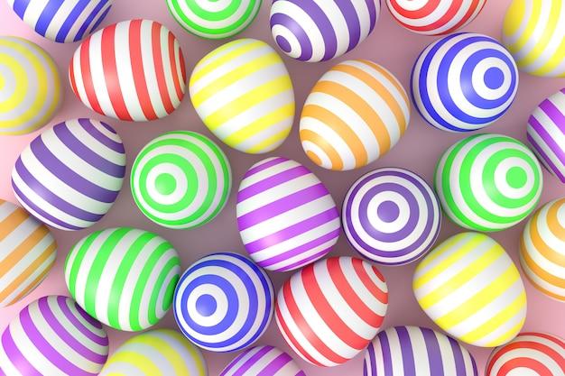 Fundo de bolas coloridas. renderização 3d.