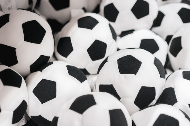 Fundo de bolas de futebol