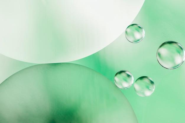 Fundo de bolhas de óleo decorativo