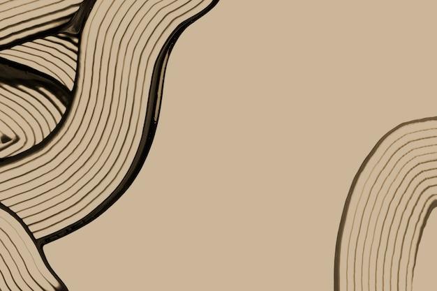 Fundo de borda texturizado em tom de terra em arte abstrata mínima marrom