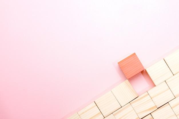 Fundo de brinquedo de bloco de madeira