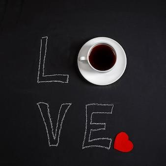 Fundo de café preto. quadrado.