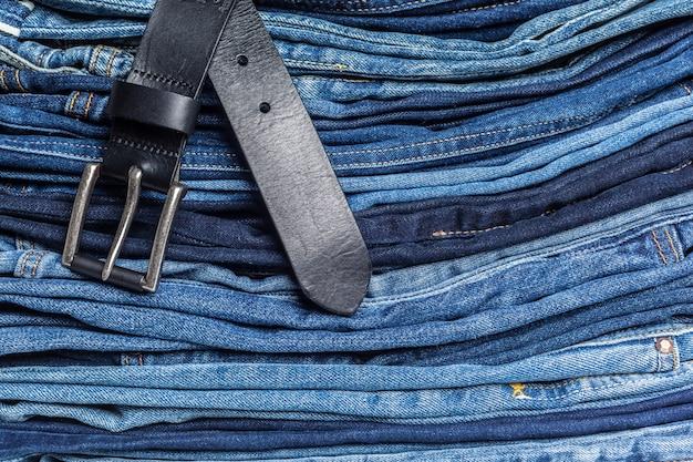 Fundo de calça jeans