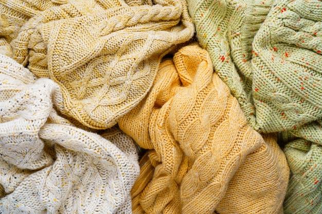 Fundo de camisolas de malha